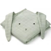 LIEWOOD Burp Cloth Hannah 2 Pack BUNNY mint