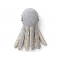 LIEWOOD Rattle Toy Ole OCTOPUS grey