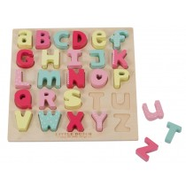 Little Dutch alphabet puzzle pink