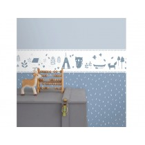 Little Dutch Self-Adhesive Border ADVENTURE blue