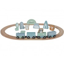 Little Dutch Wooden Railway Train BLUE