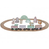 Little Dutch Wooden Railway Train PINK