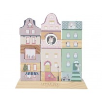 Little Dutch wooden Building Blocks ADVENTURE PINK