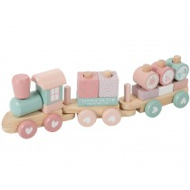 Little Dutch wooden stacking train pink