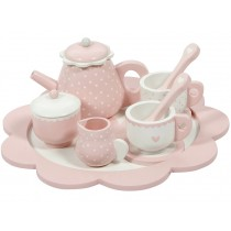 Little Dutch wooden tea set SOFT PINK