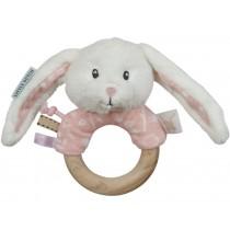 Little Dutch Rattle Ring RABBIT pink