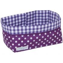 Little Dutch baby storage basket dots purple large