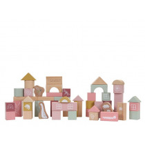 Little Dutch Wooden Building Blocks LITTLE GOOSE pink