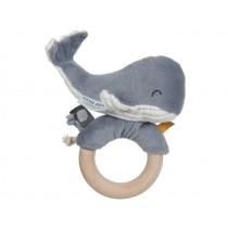 Little Dutch Rattle Ring Ocean WHALE blue