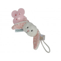Little Dutch Pacifier Clip RABBIT pink