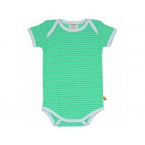 loud + proud short sleeve bodysuit stripes green