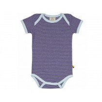 loud + proud short sleeve bodysuit stripes ultramarin