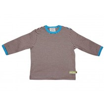 loud and proud Shirt stripes chocolate
