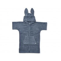 LIEWOOD Hooded Bathrobe Lela RABBIT foggy blue 1 - 2 years
