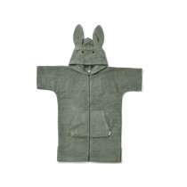 LIEWOOD Hooded Bathrobe Lela RABBIT faune green 3 - 4 years