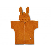 LIEWOOD Hooded Bathrobe Lela RABBIT mustard 7 - 8 years