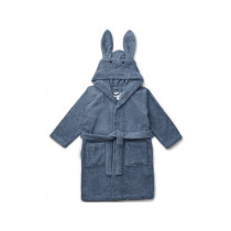 LIEWOOD Hooded Bathrobe Lily RABBIT foggy blue 3 - 4 years