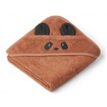 LIEWOOD Hooded Towel AUGUSTA Panda tuscany rose