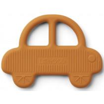 LIEWOOD Silicone Teether Gemma CAR mustard