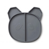 LIEWOOD Compartment Plate Maddox PANDA dark grey