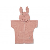 LIEWOOD Hooded Bathrobe Lela RABBIT old rose 1 - 2 years