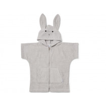 LIEWOOD Hooded Bathrobe Lela RABBIT grey 7 - 8 years