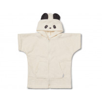 LIEWOOD Hooded Bathrobe Lela PANDA creme 1 - 2 years