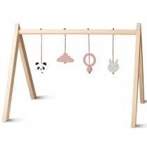 LIEWOOD Wooden BABY GYM old rose