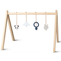 LIEWOOD Wooden BABY GYM blue