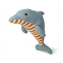 LIEWOOD Knitted Toy Diver Teddy DOLPHIN sea blue