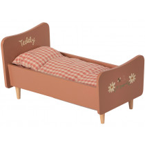 Maileg Wooden Bed for TEDDY Mum rose