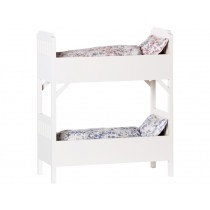 Maileg Bunk Bed with Bedding white small