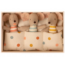 Maileg Baby Mice in Matchbox TRIPLETS