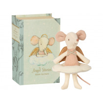 Maileg Big Sister Mouse ANGEL in Book