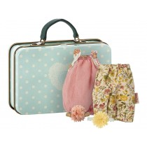 Maileg Suitcase with 2 Dresses coral