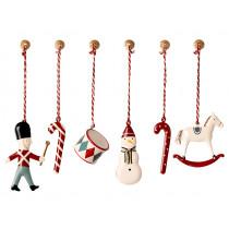Maileg 6 Metal Ornaments CLASSIC
