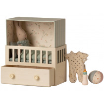 Maileg BABY ROOM with Micro Rabbit blue