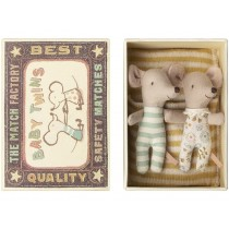 Maileg Mouse BABY TWINS in Cigarbox
