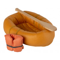 Maileg RUBBER BOAT Mouse Dusty Yellow