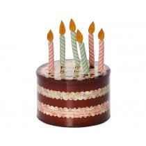 Maileg BIRTHDAY BOX with 6 Candles
