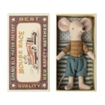 Maileg Mouse Big Brother in Box BLUE