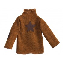 Maileg Sweater With Star brown XL