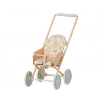 Maileg STROLLER for Micro Mouse POWDER