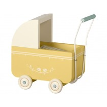 Maileg Pram for MICRO Yellow