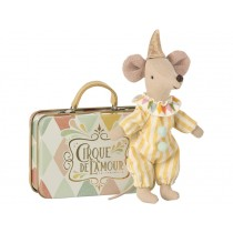 Maileg Mouse CLOWN with Suitcase