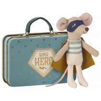 Maileg Mouse SUPERHERO with Suitcase