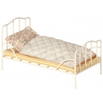 Maileg Vintage Bed with Bedding mini offwhite