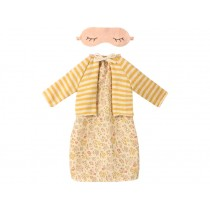Maileg NIGHT DRESS with CARDIGAN Best Friends yellow