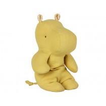 Maileg Small Safari Friends HIPPO lime yellow