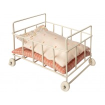 Maileg Metal Baby Cot for Micro rose